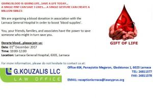 blood donation larnaca